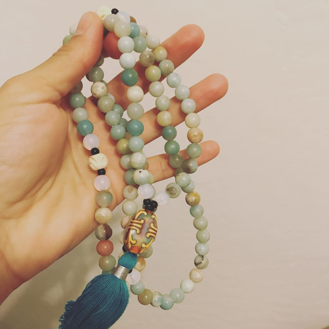 Had so much fun making my first mala yesterday withhellip